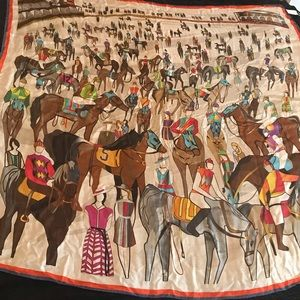 Van Laack Horse Scarf NWT